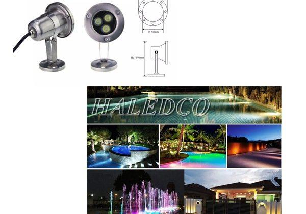 Báo giá đèn âm nước 3w đổi màu/đơn sắc Rẻ nhất 2021