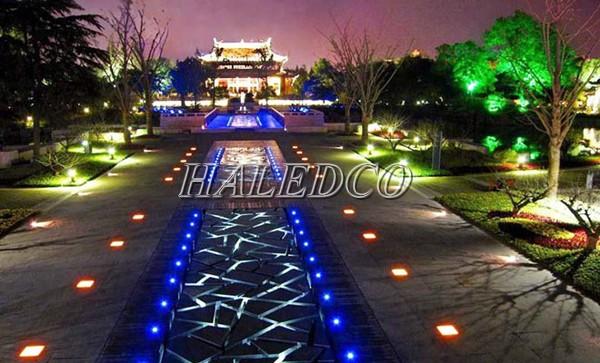 Chiếu sáng khuôn viên sân vườn bằng đèm âm sàn 1w