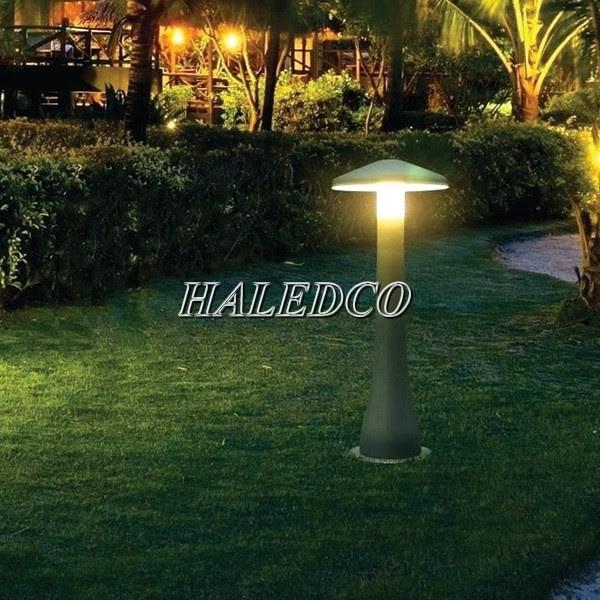 Chiếu sáng khu vườn bằng đèn trụ sân vườn cây nấm model HLTTDSV 2-1