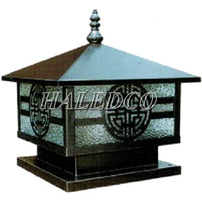 Thiết kế đèn trụ cổng trang trí bằng đồng