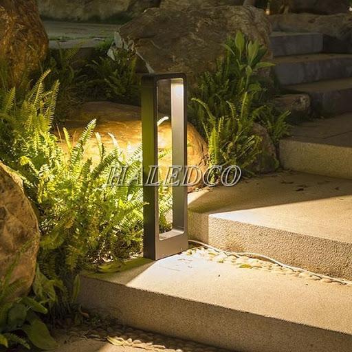 Đèn trụ sân vườn hình chữ nhật