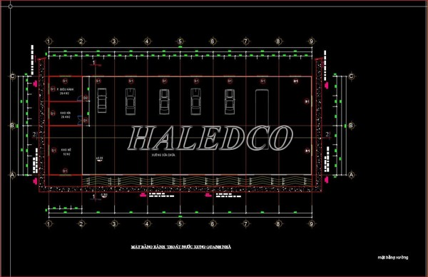 Bản thiết kế nhà xưởng ô tô