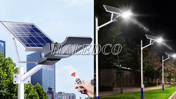 Đèn đường LED 200w năng lượng mặt trời HLMTS1-200 chiếu sáng đường biên hải đảo