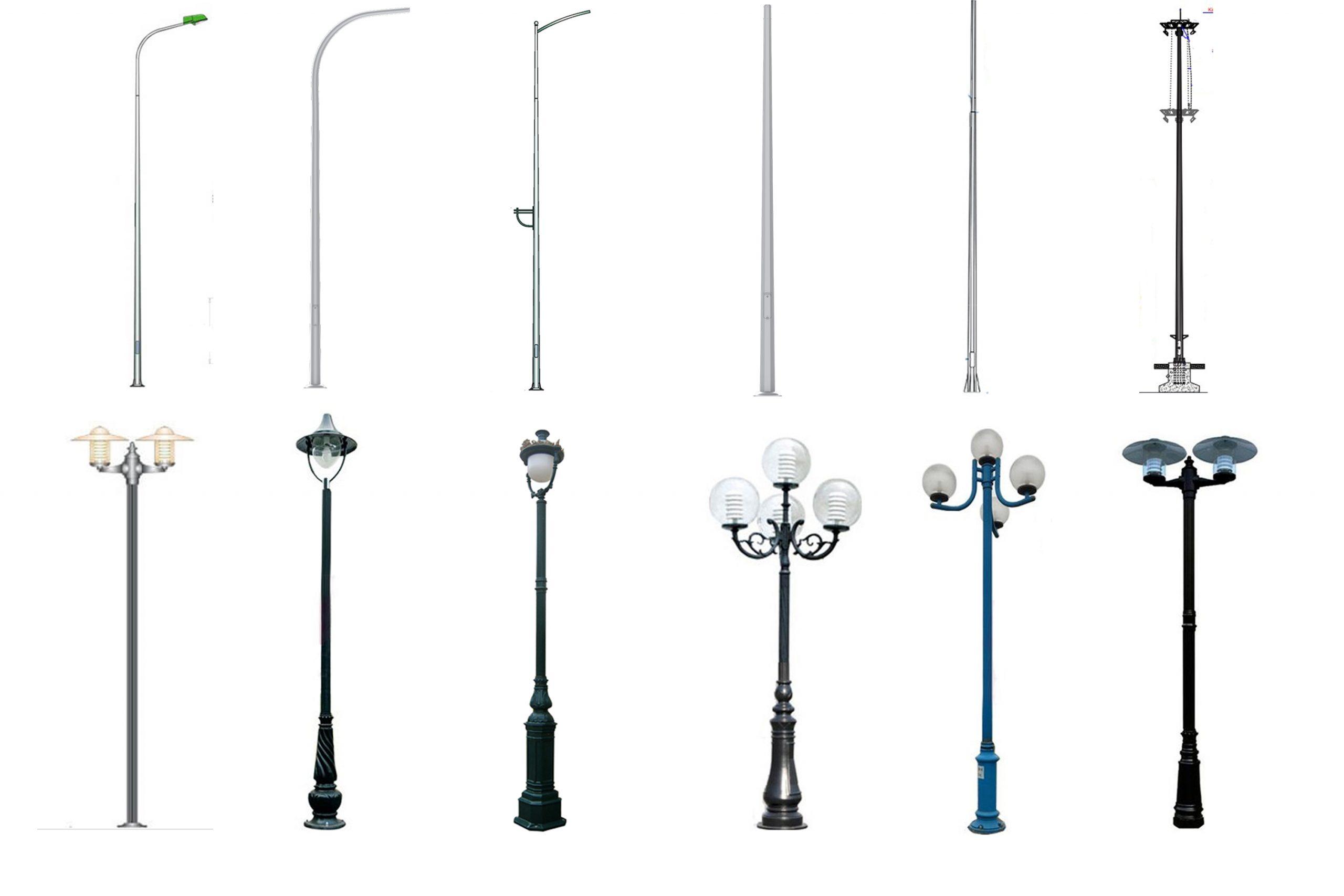 Các loại cột đèn chiếu sáng