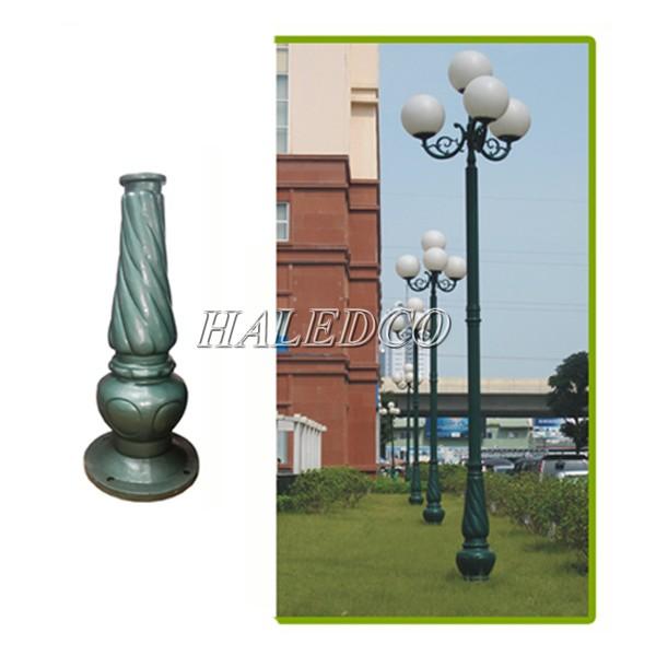 Đế gang cột đèn sân vườn Banian