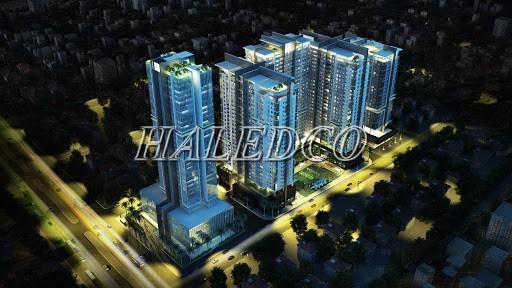 Cảnh quan sau khi lắp đặt đèn LED Golden Land 275 Nguyễn Trãi