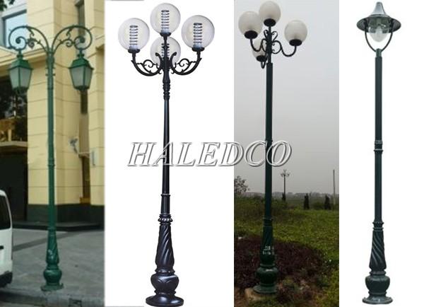 Một số kiểu dáng cột đèn sân vườn Banian phổ biến
