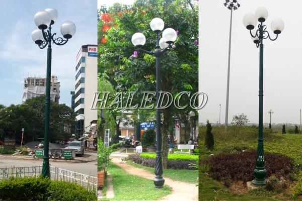 Ứng dụng của cột đèn sân vườn Banian