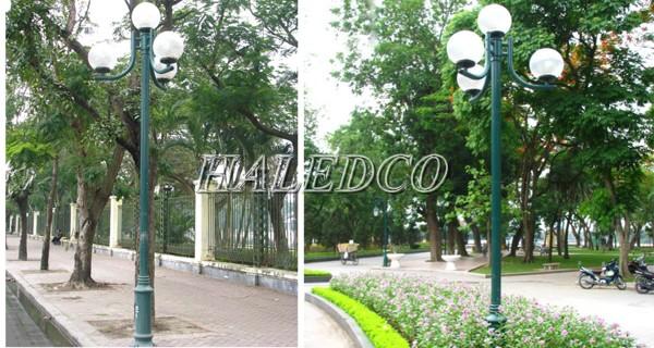 Ứng dụng của cột đèn sân vườn Nouvo