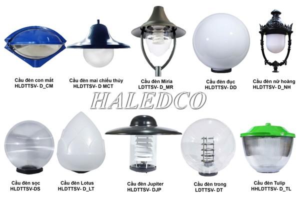 Các loại bóng đèn LED lắp cho cột đèn sân vườn 1 bóng