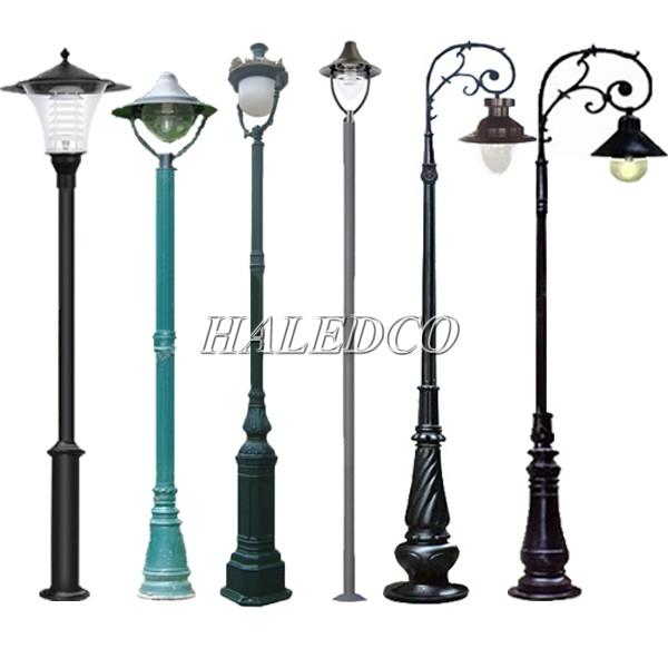 Một số kiểu dáng cột đèn sân vườn 1 bóng phổ biến