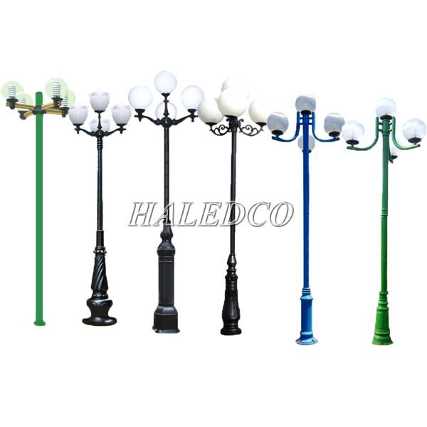 Các mẫu cột đèn sân vườn 4 bóng