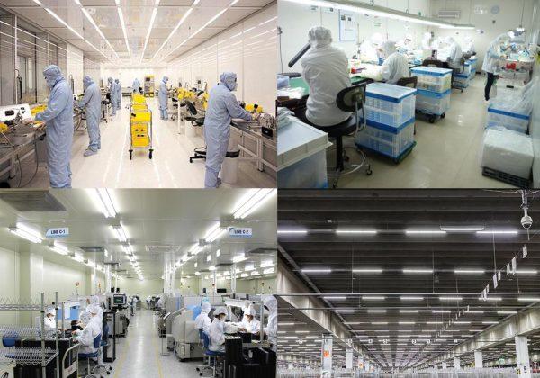Một số ứng dụng phổ biến của đèn LED chiếu sáng phòng sạch