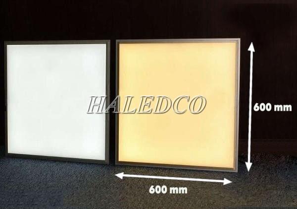 Đèn LED panel 600x600 ánh sáng trắng và ánh sáng vàng