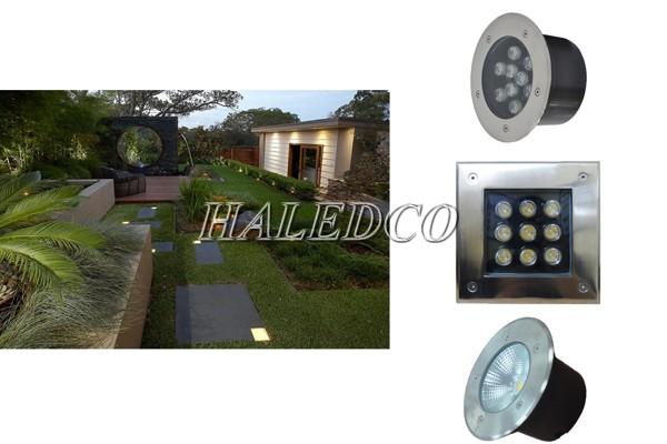 Đèn âm đất 9w thiết kế đa dạng kiểu dáng, ánh sáng đẹp, đạt chuẩn IP67