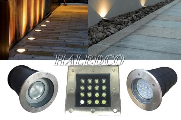 Đèn âm đât đa dạng công suất, tiết kiệm điện, đa dạng kiểu dáng thiết kế