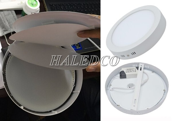 Hình ảnh thực tế cấu tạo đèn LED ốp trần tròn