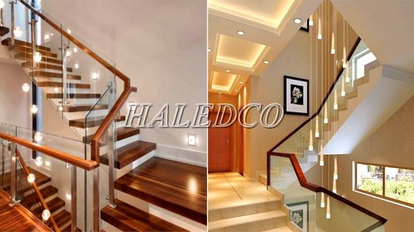 Cách lắp đặt đèn cảm ứng cầu thang ở chiếu nghỉ giữa 2 tầng