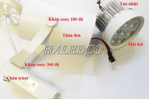 Cấu tạo đèn LED rọi thanh ray