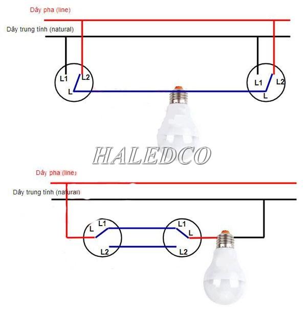 Sơ đồ mạch điện cầu thang cơ bản