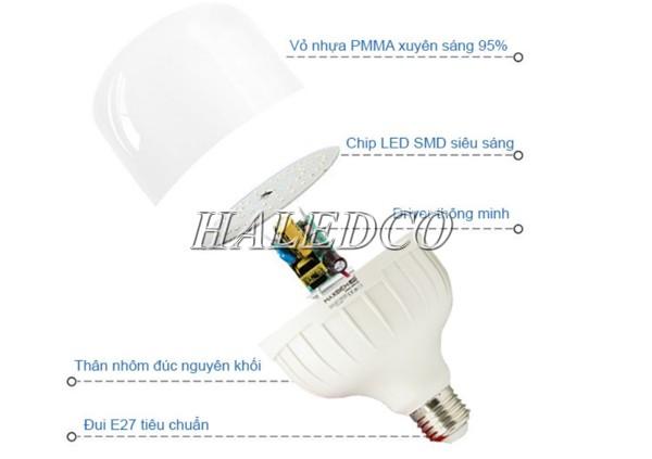 Đèn LED siêu sáng 50w dáng trụ