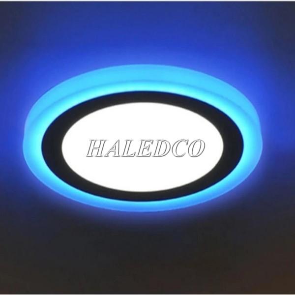 Đèn LED âm trần xanh 24w tròn chế độ sáng linh hoạt