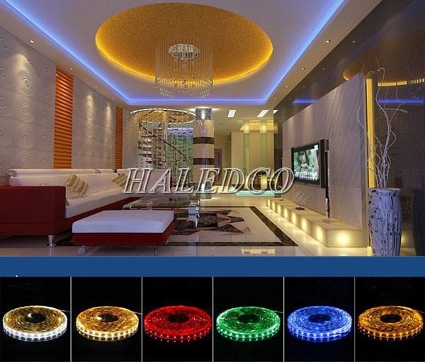 Chiếu hắt trần nhà bằng LED dây