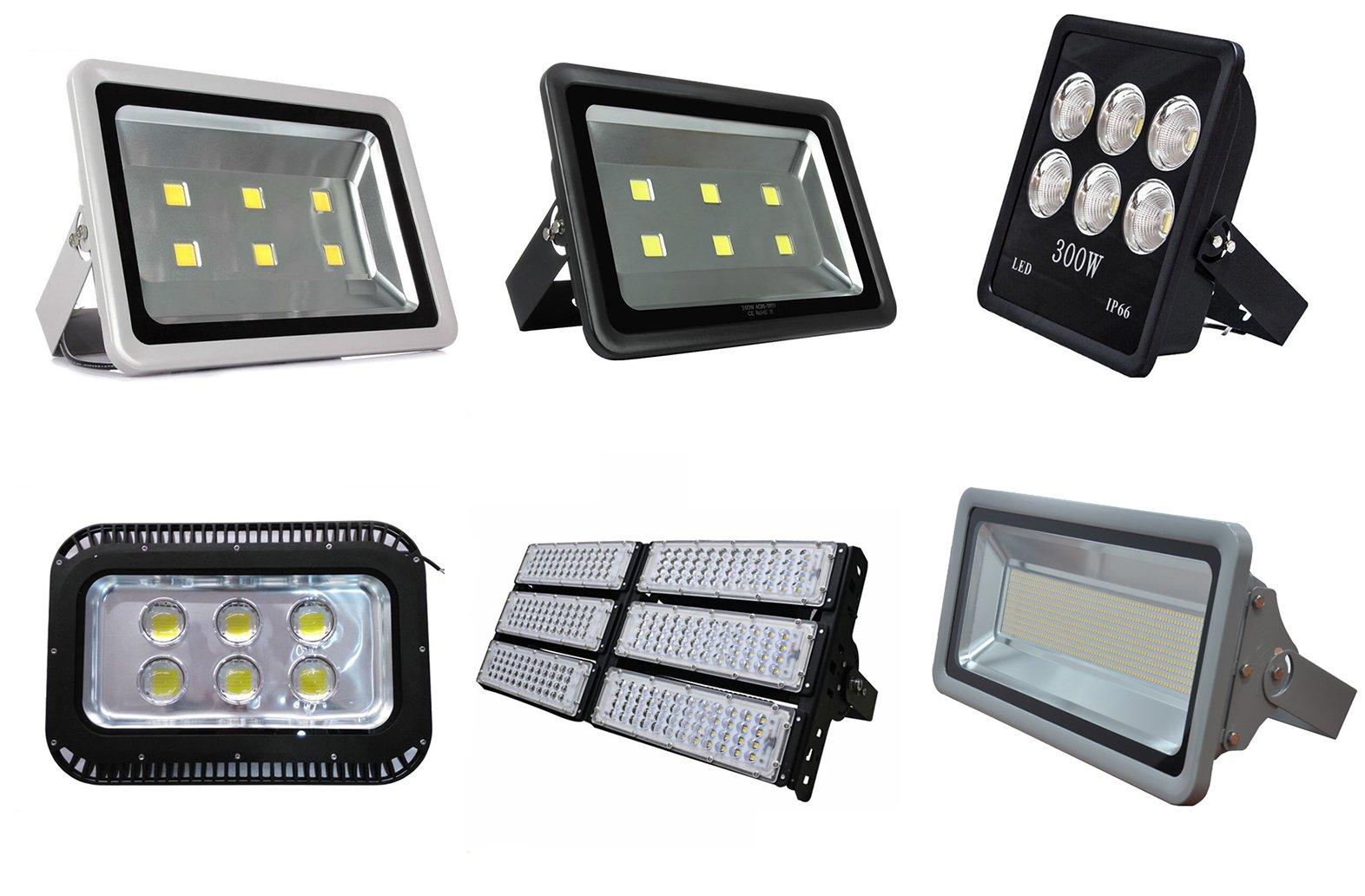 Đèn pha LED 300w đa dạng kiểu dáng, model