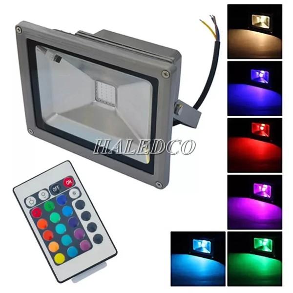 Đèn pha LED 10w đổi màu ánh sáng linh hoạt