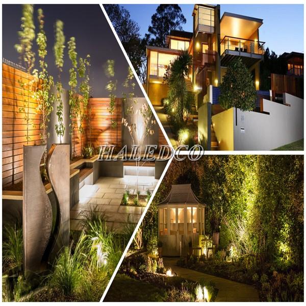 ứng dụng đèn pha LED 50w chiếu sáng sân vườn