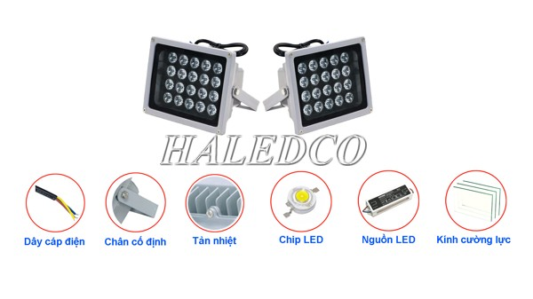 Cấu tạo đèn pha LED 100 IP66