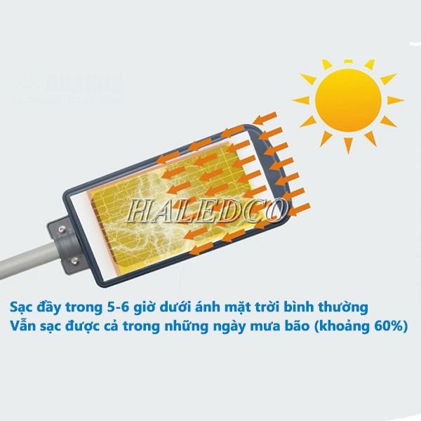Đèn đường LED năng lượng mặt trời HLMTS10-40 cảm ứng ánh sáng