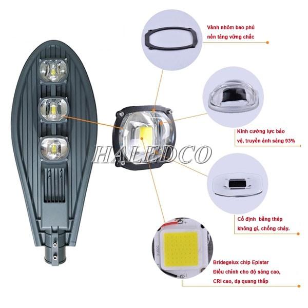 Cấu tạo đèn LED đường năng lượng mặt trời 150w HLSNLMT3-150