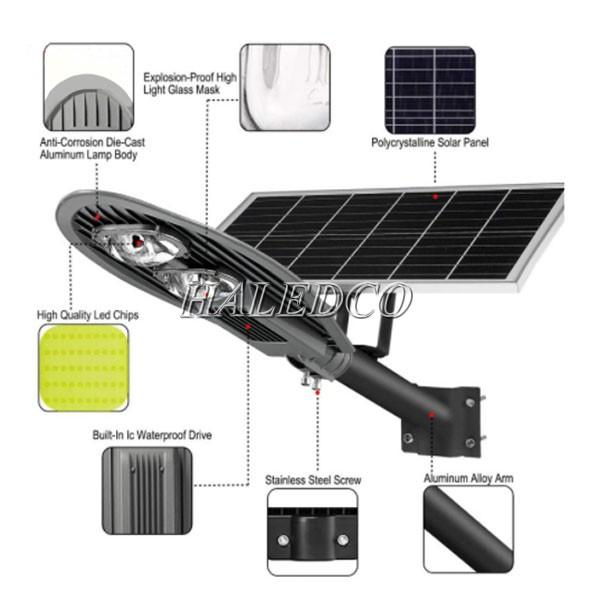 Cấu tạo đèn đường LED năng lượng mặt trời HLMTS7-100