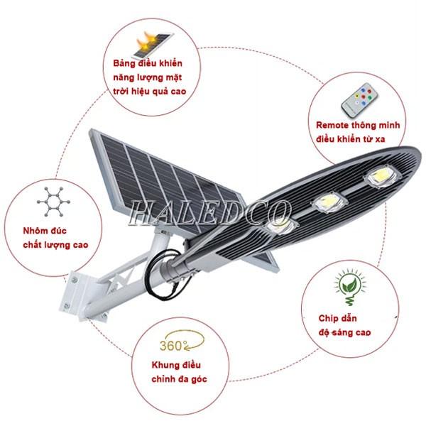 Đèn LED đường năng lượng mặt trời 150w HLSNLMT3-150 thân thiện môi trường