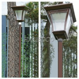 Cột đèn sân vườn năng lượng mặt trời HLMTCD3-4