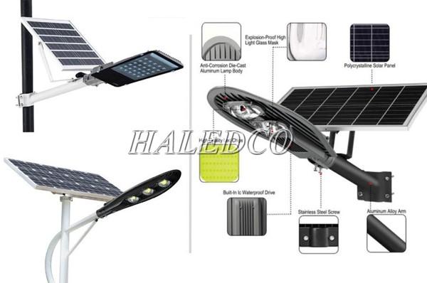 Đèn đường nlmt rời pin có thiết kế tấm pin tách rời với thân đèn
