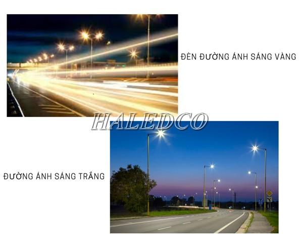 Dùng đèn đường ánh sáng trắng hoặc ánh sáng vàng an toàn hơn?