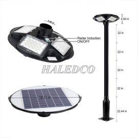 Cột đèn sân vườn năng lượng mặt trời HLMTSV8-90